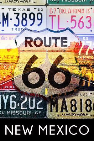 New Mexico - Route 66 License Plates