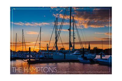 The Hamptons, New York - Boats at Sunset