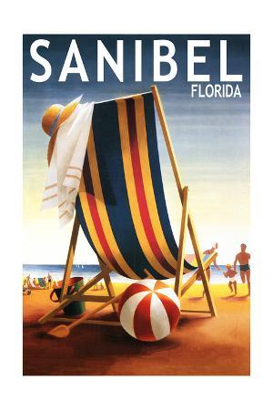 Sanibel, Florida - Beach Chair and Ball