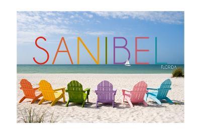 Sanibel, Florida - Colorful Beach Chairs