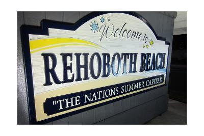 Rehoboth Beach, Delaware - Welcome Sign