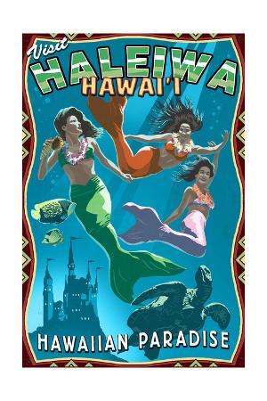 Haleiwa, Hawai'i - Mermaids