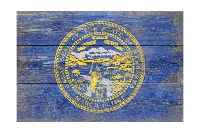 Nebraska State Flag - Barnwood Painting