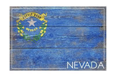 Nevada State Flag - Barnwood Painting