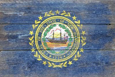 New Hampshire State Flag - Barnwood Painting