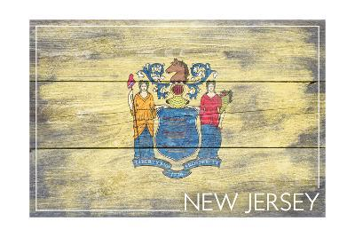 New Jersey State Flag - Barnwood Painting