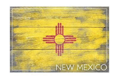 New Mexico State Flag - Barnwood Painting