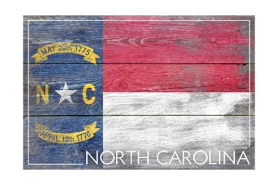 North Carolina State Flag - Barnwood Painting
