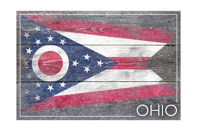 Ohio State Flag - Barnwood Painting