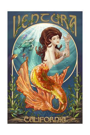 Ventura, California - Mermaid