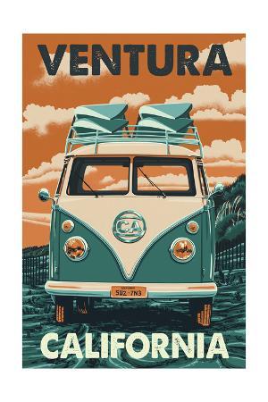 Ventura, California - Letterpress