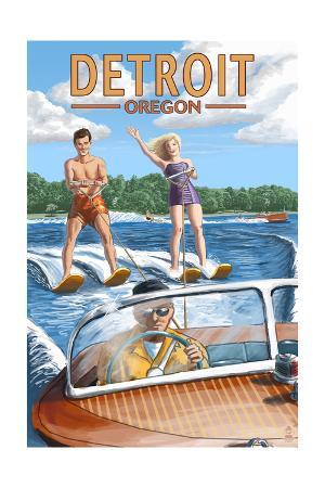Detroit, Oregon - Water Skiing Scene