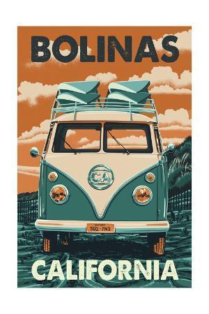 Bolinas, California - Letterpress