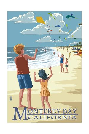 Monterey Bay, California - Kite Flyers