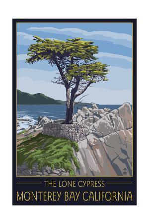 Monterey Bay, California - Lone Cypress Tree