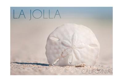 La Jolla, California - Sand Dollar and Beach