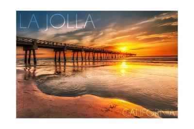 La Jolla, California - Pier and Sunset