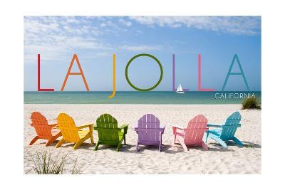 La Jolla, California - Colorful Beach Chairs