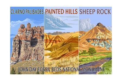 John Day Fossil Beds, Oregon - Collage