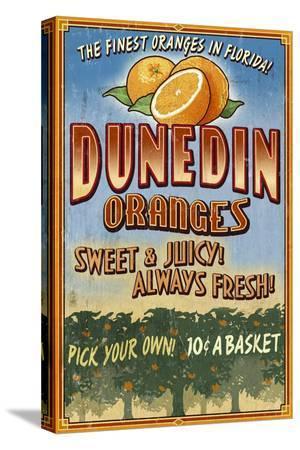 Dunedin, Florida - Orange Grove - Vinatge Sign