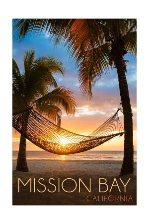 Mission Bay, California - Hammock and Sunset
