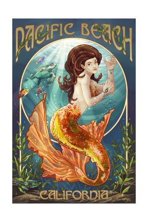 Pacific Beach, California - Mermaid