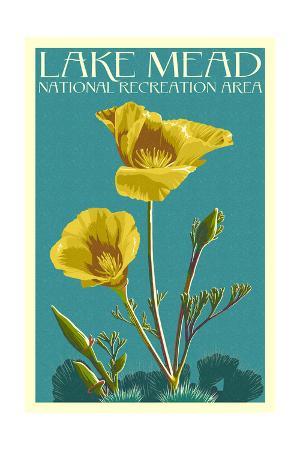 Lake Mead - National Recreation Area - Bear Paw Poppy - Letterpress