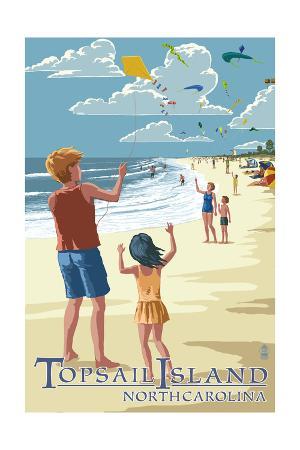Topsail Island, North Carolina - Kite Flyers