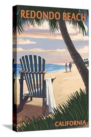 Redondo Beach, California - Adirondack Chairs and Sunset
