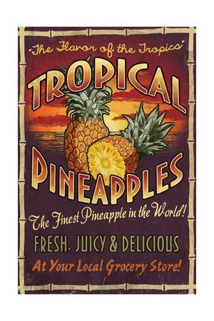 Pineapple - Vintage Sign