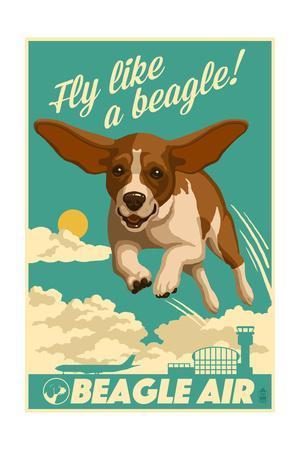 Beagle - Retro Aviation Ad