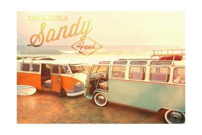 Peace, Love, and Sandy Feets on Beach
