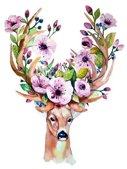 Decorated Deer Head For Christmas
