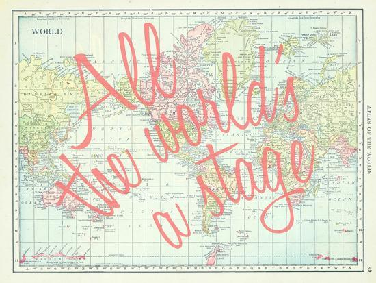 All the World\'s a Stage (Shakespeare) - 1913, World Map