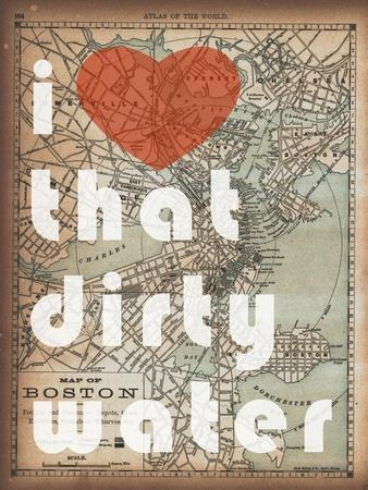 That Dirty Water - 1890, Boston, Massachusetts Map