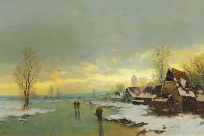 People Walking on a Frozen River
