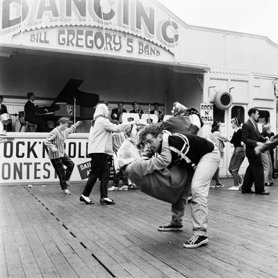 Couple Dancing to Bill Gregory's Band. August 1958