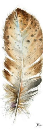 Watercolor Feather White III