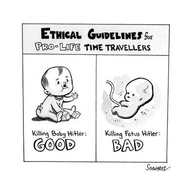 Killing Baby Hitler - Cartoon