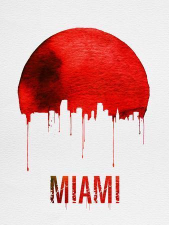 Miami Skyline Red
