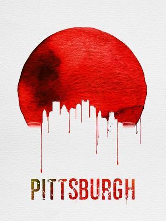 Pittsburgh Skyline Red