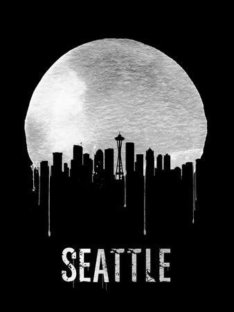 Seattle Skyline Black