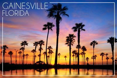 Gainesville, Florida - Lagoon and Sunset