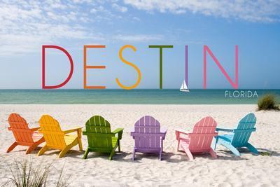 Destin, Florida - Colorful Beach Chairs