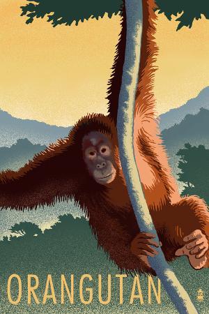Orangutan - Lithograph Series