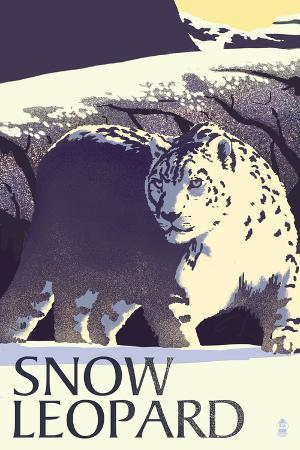 Snow Leopard - Lithograph Series