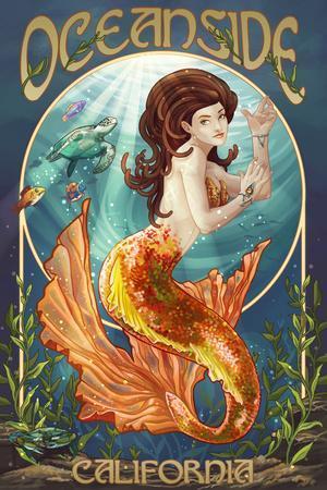 Oceanside, California - Mermaid