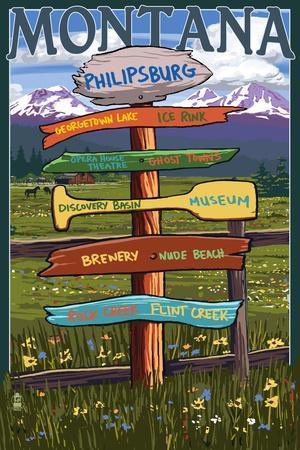 Philipsburg, Montana - Sign Destinations
