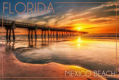 Mexico Beach, Florida - Pier and Sunset