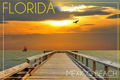 Mexico Beach, Florida - Pier at Sunset